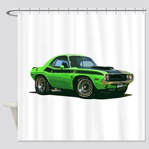 BabyAmericanMuscleCar_70CHLGR_green Shower Curtain