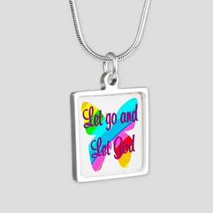 TRUST GOD Silver Square Necklace