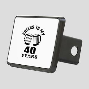 Cheers To My 40 Years Birt Rectangular Hitch Cover