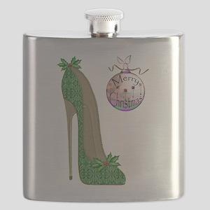Christmas Stiletto Flask