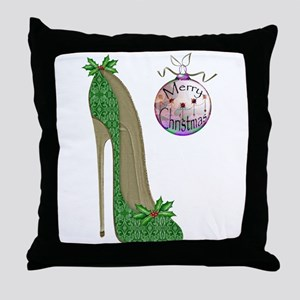 Christmas Stiletto Throw Pillow