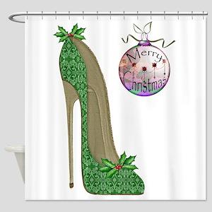 Christmas Stiletto Shower Curtain