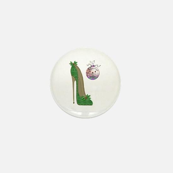 Christmas Stiletto Mini Button