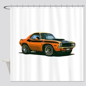 BabyAmericanMuscleCar_70CHLGR_Orange Shower Curtai