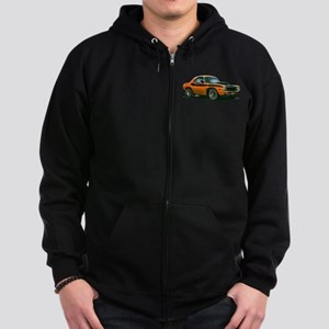 BabyAmericanMuscleCar_70CHLGR_Orange Zip Hoodie