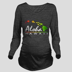 ALOHA Hawaii (Distressed Design) Long Sleeve Mater