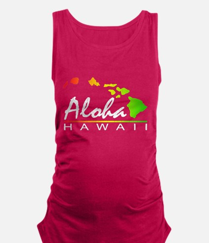ALOHA Hawaii (Distressed Design) Maternity Tank To