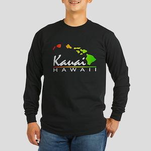Kauai Hawaii (Distressed Design) Long Sleeve T-Shi