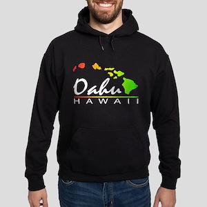 OAHU Hawaii (Distressed Design) Hoodie