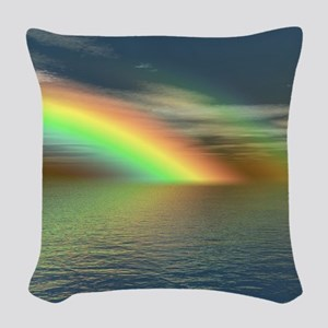 Rainbow 005 Woven Throw Pillow
