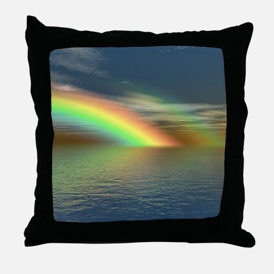 Rainbow 005 Throw Pillow