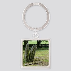 Clava Cairns Square Keychain