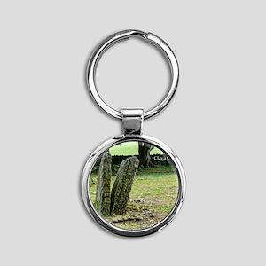 Clava Cairns Round Keychain