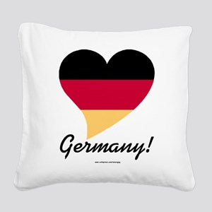 Heart Germany (International) Square Canvas Pillow