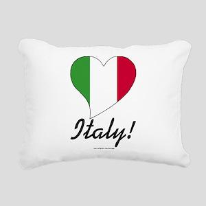Heart Italy (International) Rectangular Canvas Pil