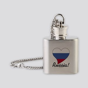 Heart Russia (World) Flask Necklace