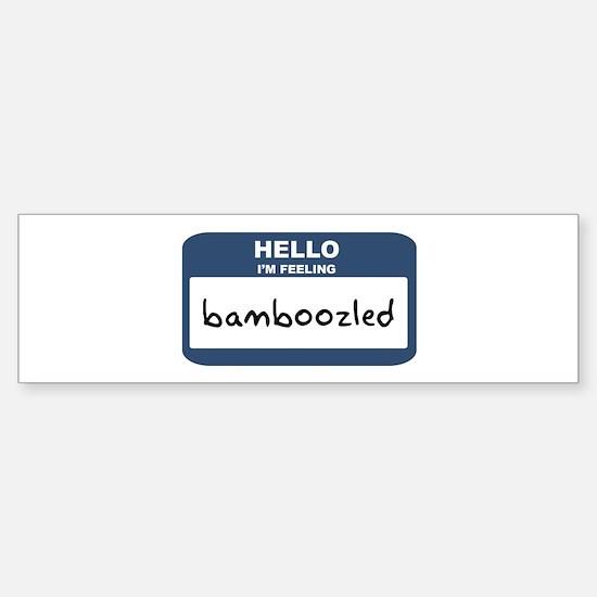Feeling bamboozled Bumper Bumper Bumper Sticker