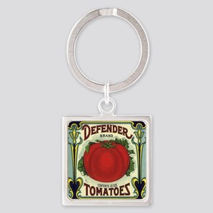 Vintage Fruit Crate Label Square Keychain