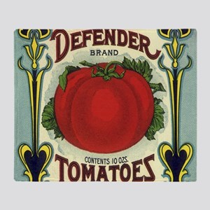 Vintage Fruit Crate Label Throw Blanket