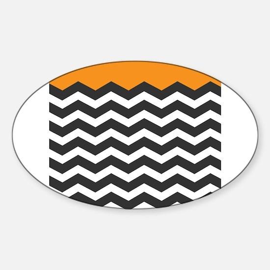 Orange Black and white Chevron Decal
