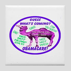 Obamacare Happy Camel Tile Coaster