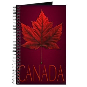 Canada Maple Leaf Souvenir Journal Notebook