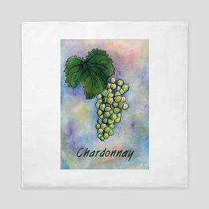Chardonnay Wine Grapes Queen Duvet