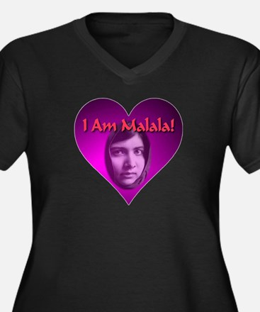 I Am Malala Heart Best Seller Women's Plus Size V-