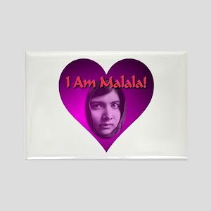 I Am Malala Heart Best Seller Rectangle Magnet