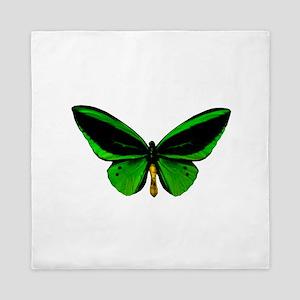 green butterfly Queen Duvet