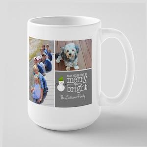 Holiday Photo Card Chic Charcoal Mugs