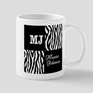 Black And White Animal Print Monogram Mug