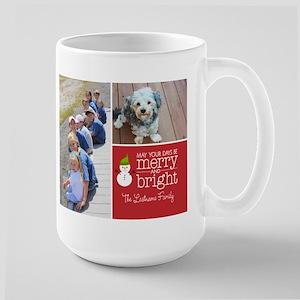 Holiday Photo Card Bright Red Mugs