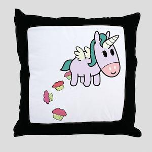 unicorncakesflip2 Throw Pillow