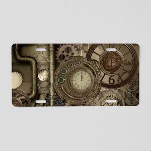 Steampunk, clocks and gears, mechanical design Alu