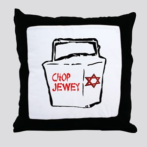 Chop Jewey Throw Pillow