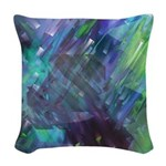 Dimensional Chill Abstract Woven Throw Pillow