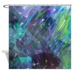 Dimensional Chill Abstract Shower Curtain