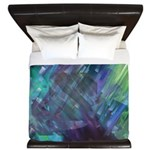 Dimensional Chill Abstract King Duvet Cover