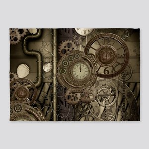 Steampunk, clocks and gears, mechanical design 5'x