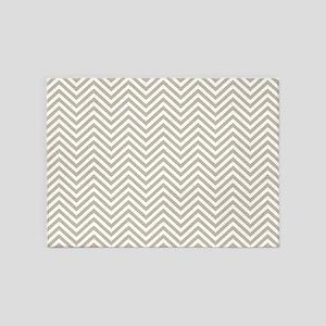 Thin Chevrons Linen Beige 5'x7'Area Rug