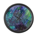 Dimensional Chill Abstract Large Wall Clock