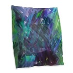 Dimensional Chill Abstract Burlap Throw Pillow