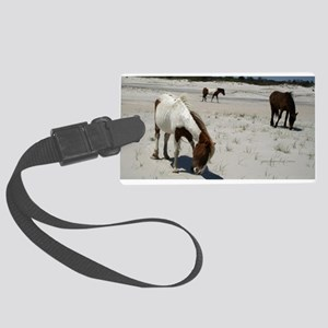 Assateague ponies Luggage Tag