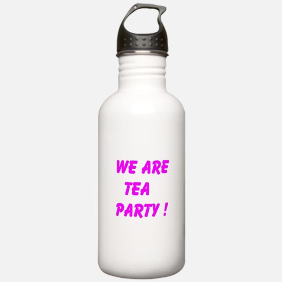 We Are Tea Party Water Bottle