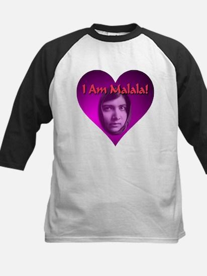 I Am Malala Purple Heart Baseball Jersey