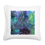 Dimensional Chill Abstract Square Canvas Pillow