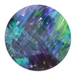 Dimensional Chill Abstract Round Car Magnet