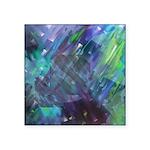 Dimensional Chill Abstract Square Sticker 3