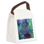 Dimensional Chill Abstract Canvas Lunch Bag